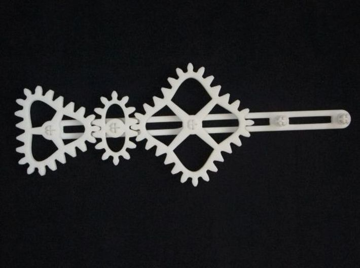 Non-circular Gear Toy B-1 3d printed