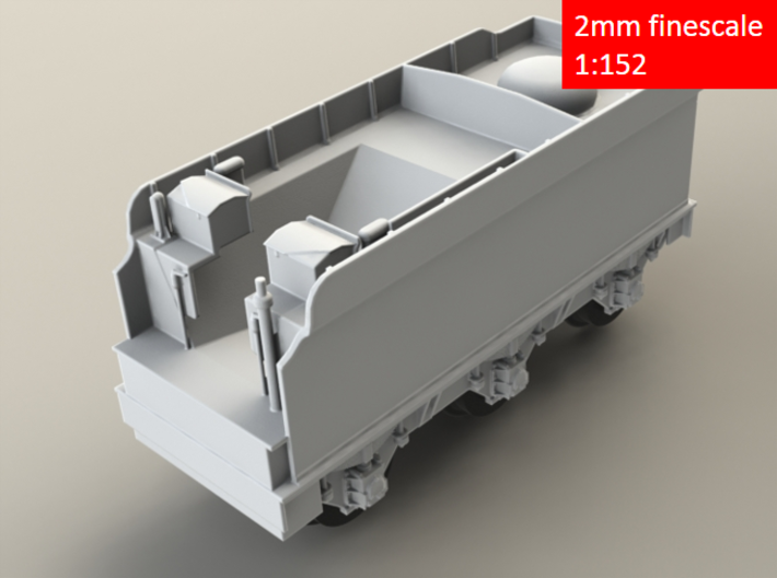 GWR Collett 4000 gal tender, 2mm FS 3d printed Render - front