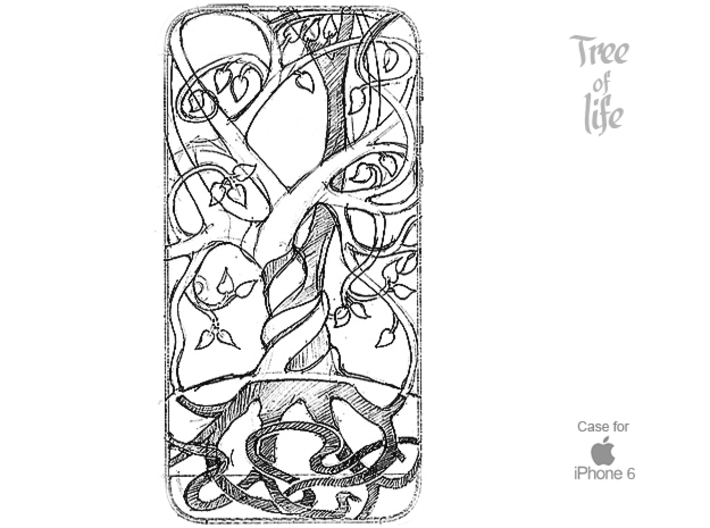 """Iphone 6 cover """"Tree of life"""" 3d printed"""