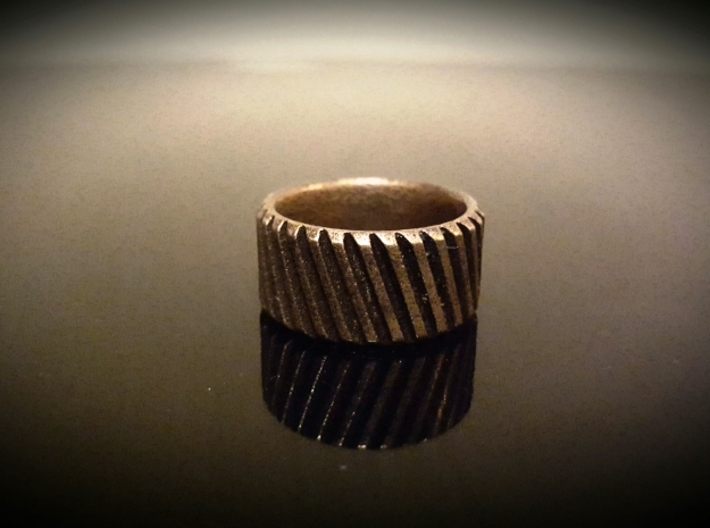 Gear Cog Fashion Ring Size 11 3d printed
