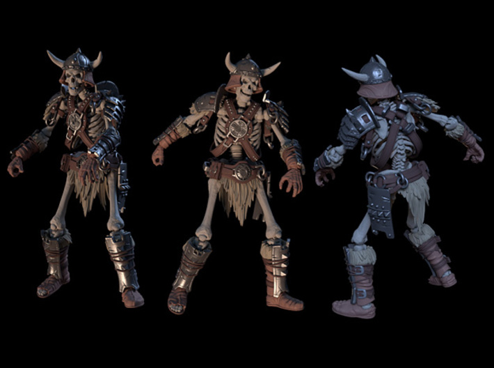 SL01-Legs-02  7inch 3d printed Complete Warrior set render, only Legs are included