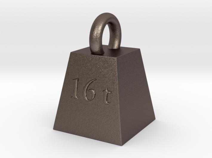 sweet sixteen tons keychain 3d printed
