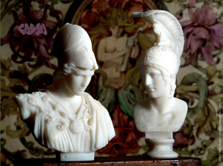 Bust of Athena of Velletri, goddess of technology 3d printed Athena and Ares (Ares sold separately)