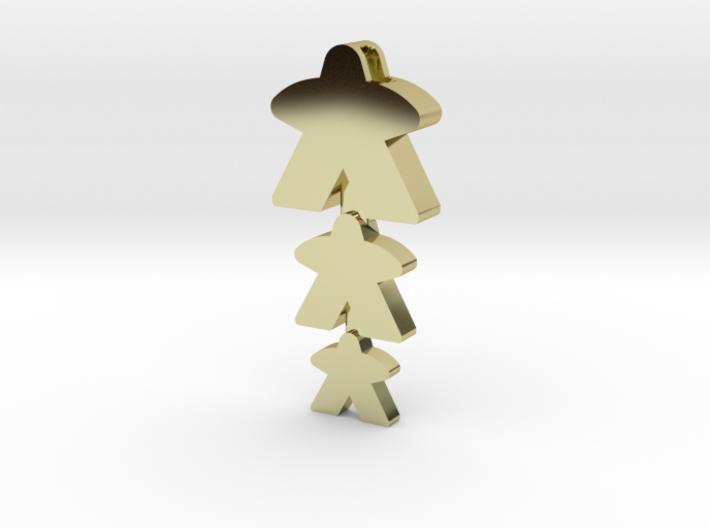 """Meeple Pendant """"threeple"""" 3d printed"""