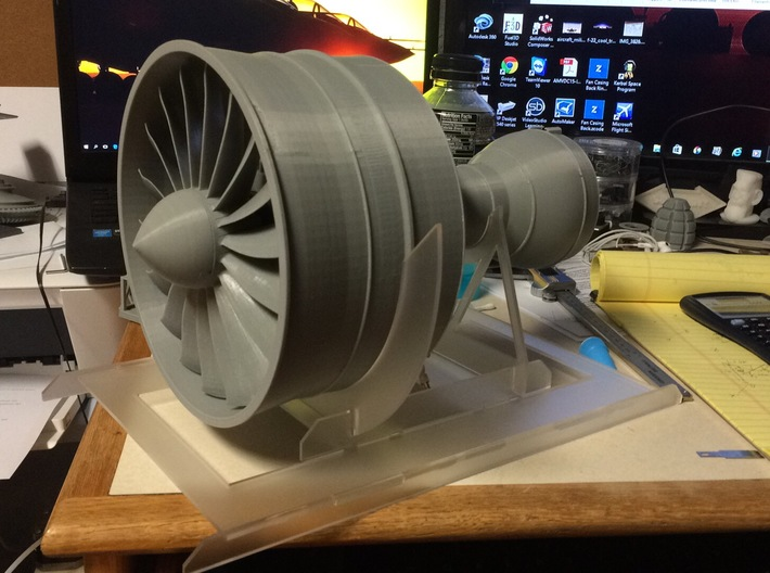 Turbofan Engine Fan Blade Connector V1 3d printed Note this is not actual model from shapeways