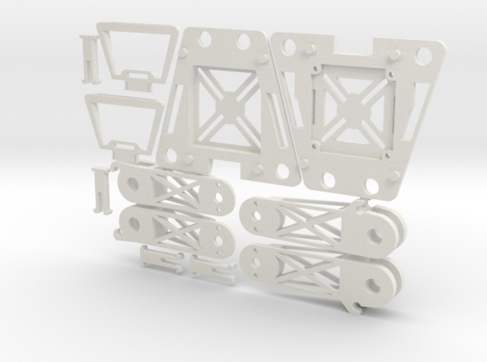 Mini Foldable Quadcopter Complete Frame Set (YD-5C 3d printed