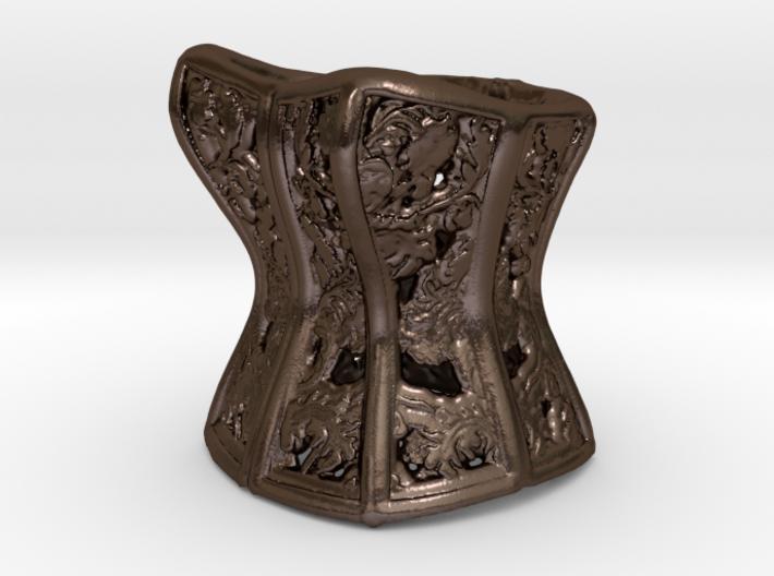 Filigree Victorian Damask Corset, c. 1860-68 3d printed