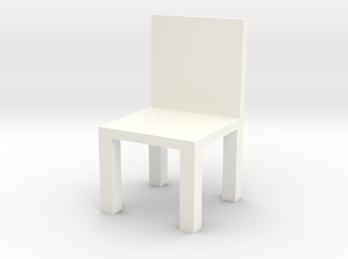 Chair #1 with engrave option 3d printed
