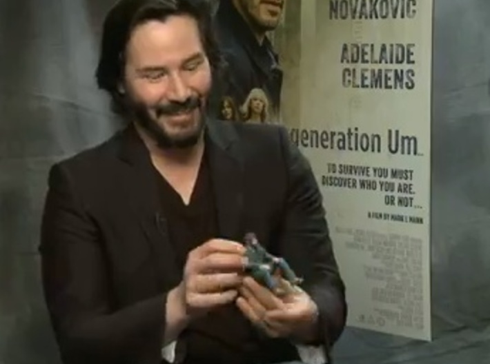 A Little Sad Keanu Reeves 3d printed Keanu Reeves playing with himself