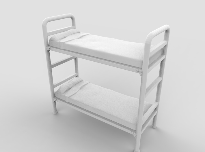 Bunk bed 01.Scale HO (1:87) 3d printed