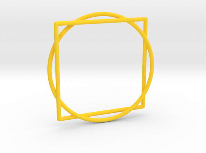 Squaring the Circle / Quadratur des Kreises 3d printed