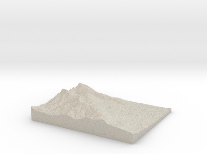 Model of Las Trampas Ridge 3d printed