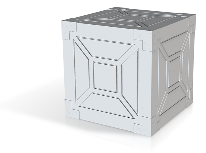 Reinforced Crate 3d printed