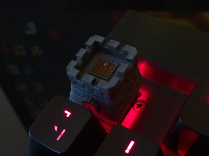 Cherry MX Castle Keycap 3d printed