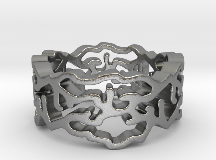 Curves 5 Ring Size 7 3d printed