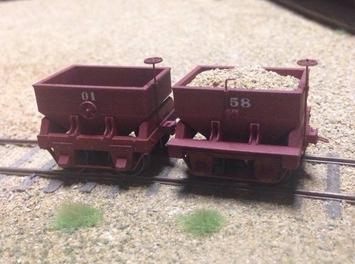 Virginia & Truckee Built Ore Car (HO Scale) 3d printed Finished model on right with decal rivets