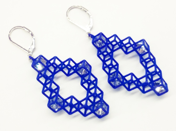 "Cube Earrings 3 ""Points of View"" collection 3d printed"