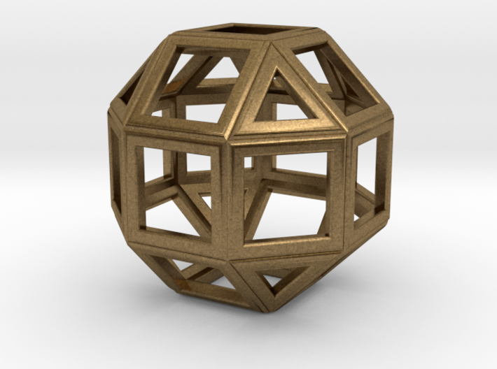 da Vinci's rhombicuboctahedron 3d printed