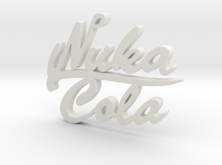 Nuka Cola Text Pendant 3d printed
