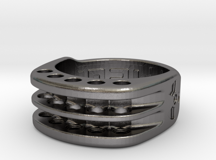 US9 Ring XI: Tritium (Stainless Steel) 3d printed
