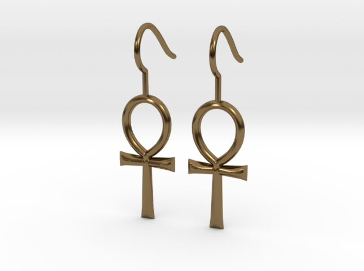 Ankh Earrings 3d printed
