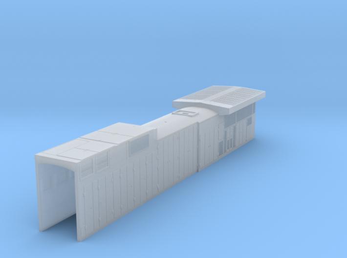 N Scale Conrail C39-8 Long Hood 3d printed