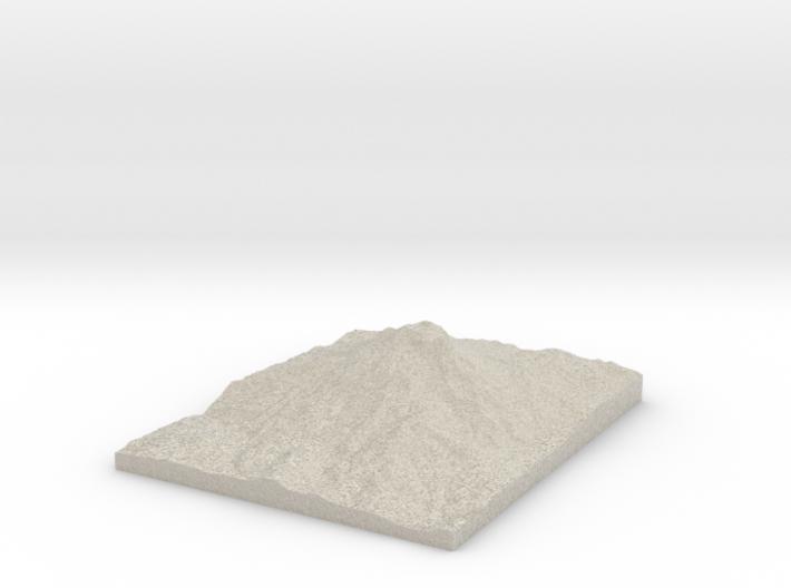 Model of Lewis Glacier 3d printed