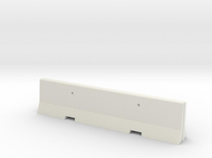 Barricade 01. Scale 1:24 3d printed Concrete barricade in scale 1:87