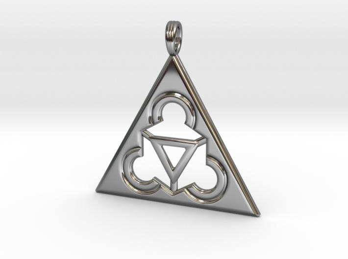TRINITY RINGS (pendant) 3d printed