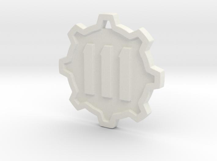 Vault 111 Pendant 3d printed