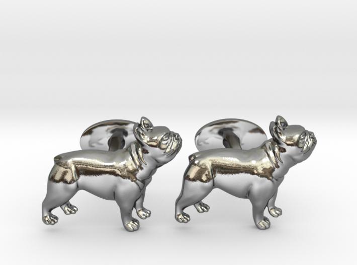 French Bulldog Cufflinks. 3d printed French Bulldog Cufflinks
