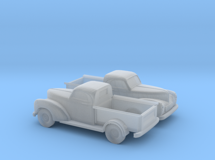1/160 2X 1940 Willys Overland Half Ton Truck 3d printed