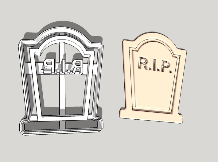 Tomb Stone Cookie Cutter 3d printed
