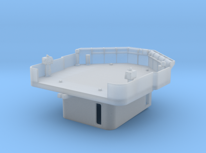 "1/96 Fletcher ""Square Bridge"" Deck 3d printed"
