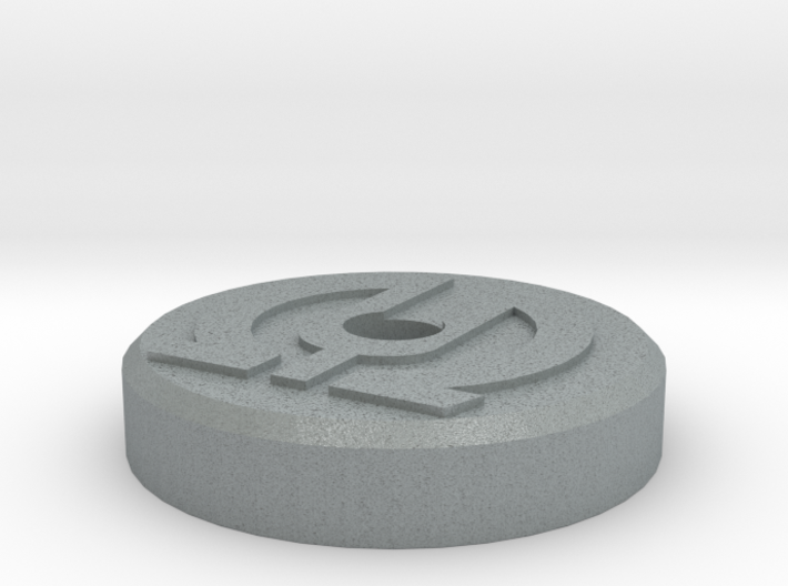 45 RPM Record adapter with Logo Embossed 3d printed