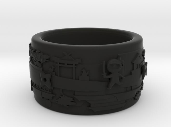 Spinny Ninja Bangle 3d printed