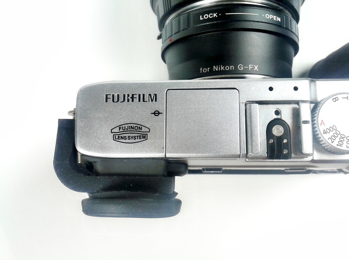 Eyecup adapter for X-E1 / X-E2 3d printed