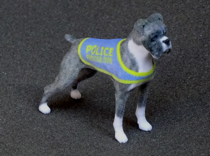 Police Boxer 3d printed