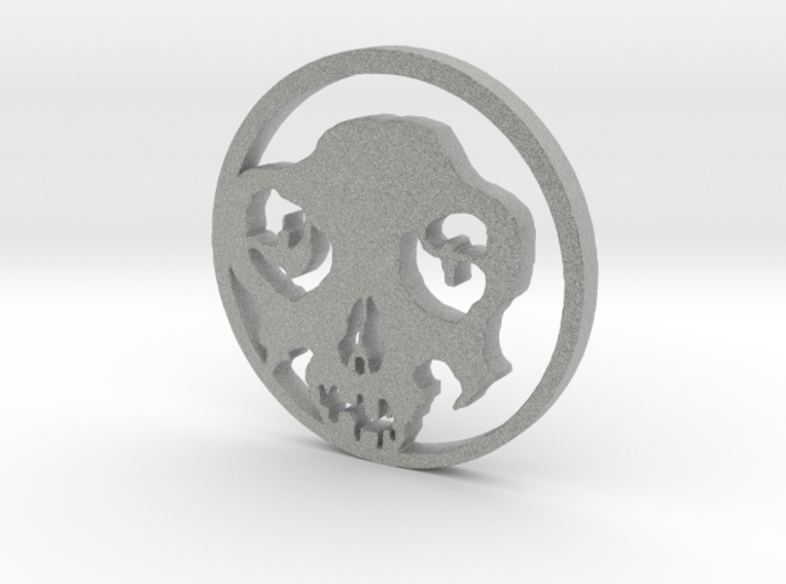 Day of the Dead Pendent 3d printed