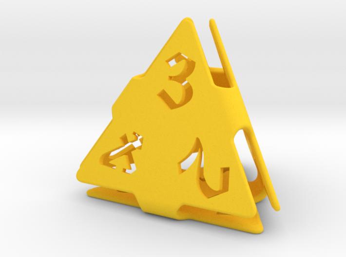 Big die 4 / d4 26mm / dice set 3d printed