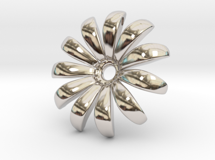 Daisy Pendant Shapeways 3d printed