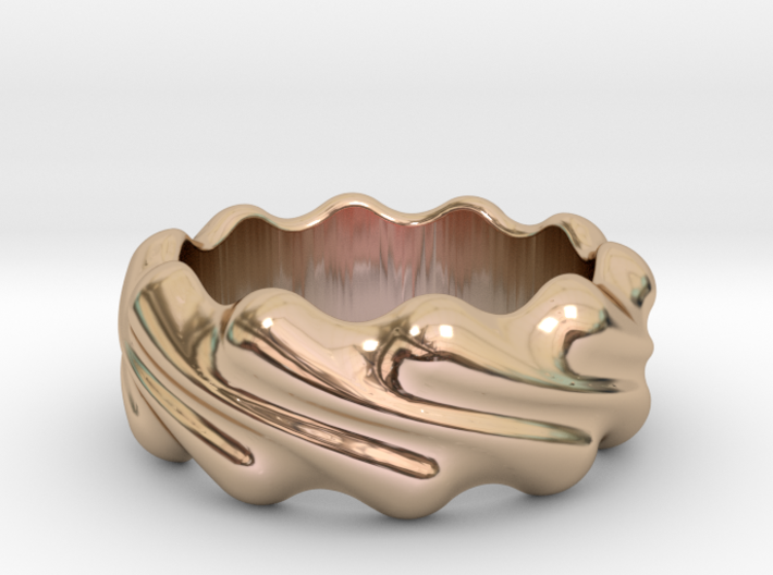 Ring Wave 19 - Italian Size 19 3d printed
