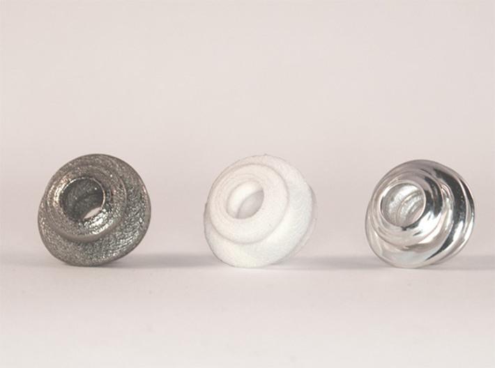 Organic Spiral for Pandora sized Bracelets 3d printed