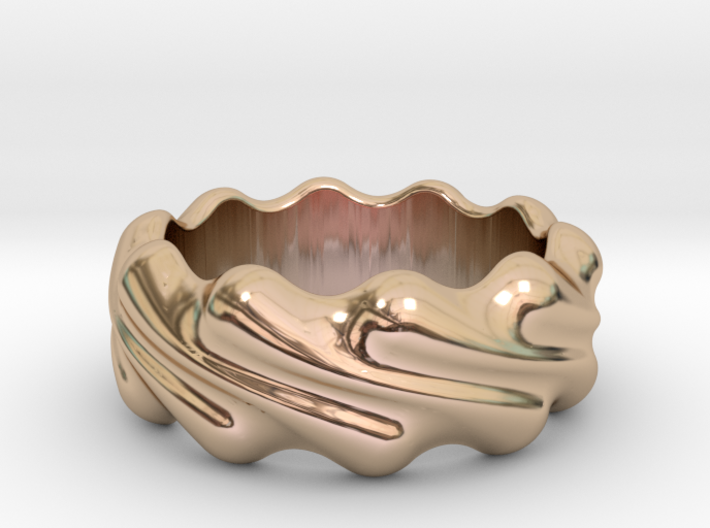 Ring Wave 30 - Italian Size 30 3d printed