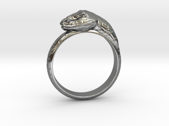 Snake Ring - (Sizes 5 to 15 available) US Size 9 3d printed