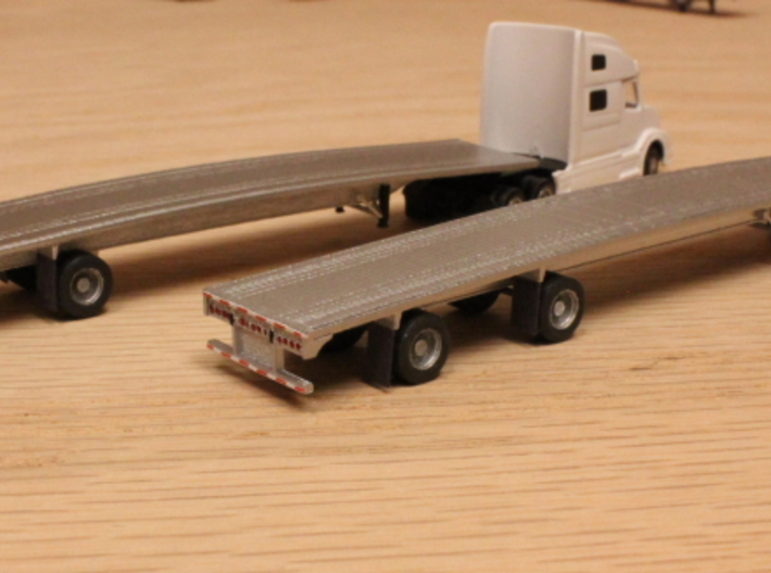 1:160 N Scale MAC 53' Flatbed Trailer 3d printed