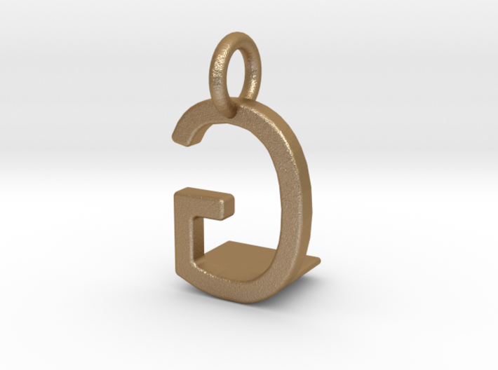 Two way letter pendant - GL LG 3d printed