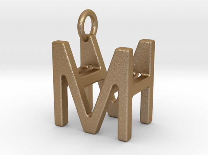 Two way letter pendant - HM MH 3d printed