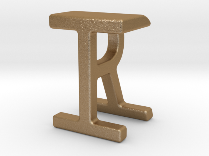 Two way letter pendant - IR RI 3d printed