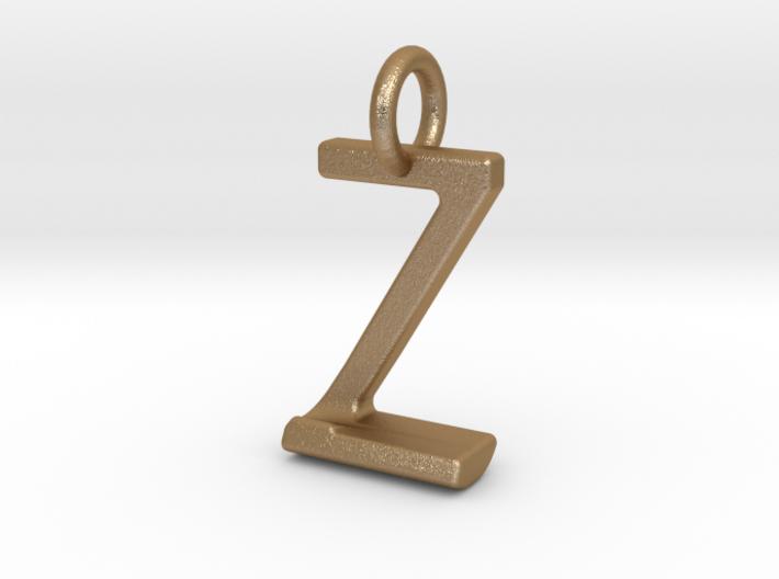 Two way letter pendant - JZ ZJ 3d printed